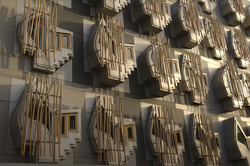 'Think Pods' on Scottish Parliament building, Edinburgh