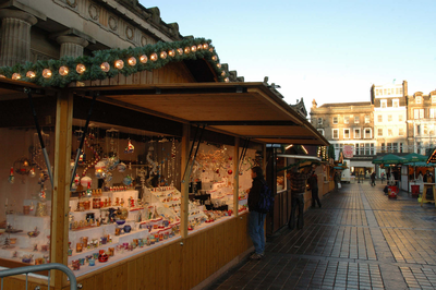 German Market near Princes Street, Edinburgh