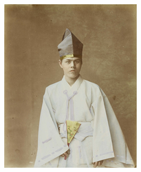 Portrait of a young Shinto priest