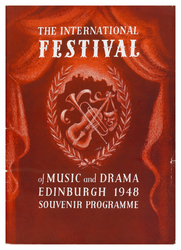 Edinburgh International Festival programme, 1948