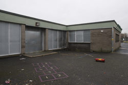 The demolition of Dumbryden Primary School