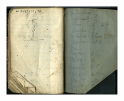 Note book belonging to Sgt Walker