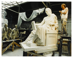 Plaster cast of statue of David Hume