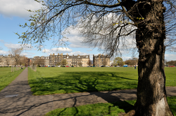 View looking across Leith Links towards Links Place