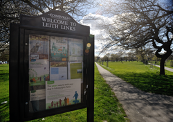 Leith Links entrance at Links Gardens