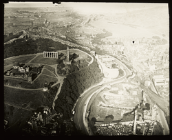 Calton Hill from the air