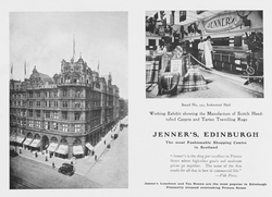 Advert for Jenner's, Edinburgh