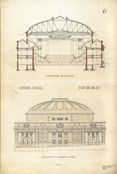 Usher Hall, elevation to Cambridge Street