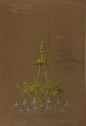 Usher Hall, sketch design of electrical fitting