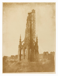 Scott Monument under construction