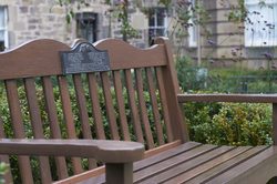 Bench dedicated to Sheila and John Mitchell