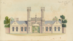Design for a cemetery gate for Dundee