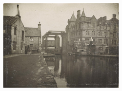 View of steel bridge over Union Canal