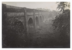 View of the Union Canal viaduct at Slateford