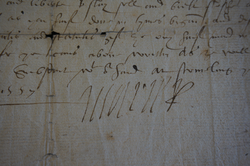 Signature of Mary Queen of Scots from a 1557 document