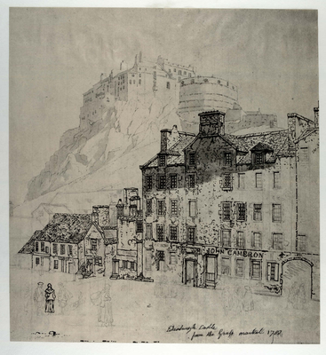 Edinburgh Castle from the Grassmarket 1788