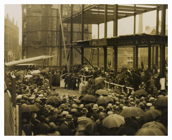 Laying of the foundation stone of Leith Academy