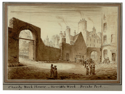 Charity Work House, Heriot's Work, Bristo Port