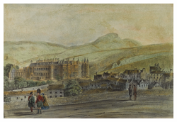 Holyrood Palace and Arthur's Seat from Calton Hill